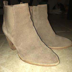 Steve Madden wooden heel suede booties